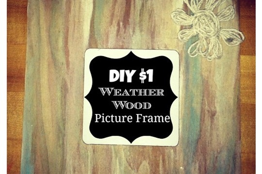 DIY Weathered Wood Picture Frame Beach Style