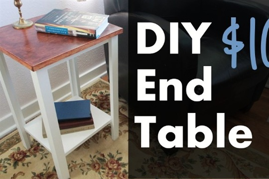 How To Build an Awesome $10 End Table