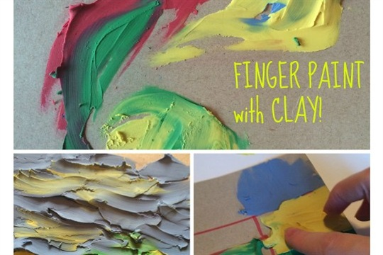 Finger Painting with Clay Art Activity