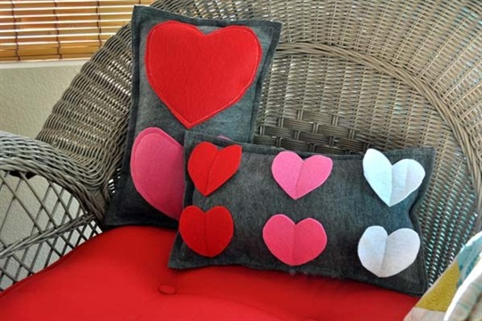 Felt Heart Pillows