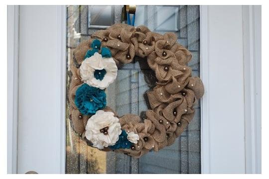 Burlap Wreath not quite tutorial