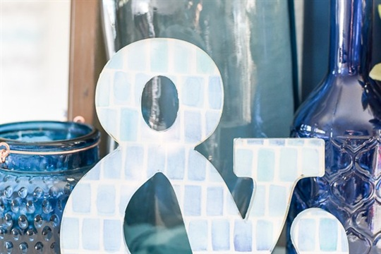 DIY Watercolor Lucite Ampersand