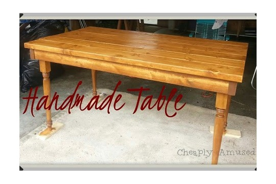 Cheaply Amused Handmade Table