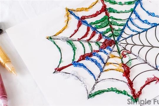 Glittery Spider Webs