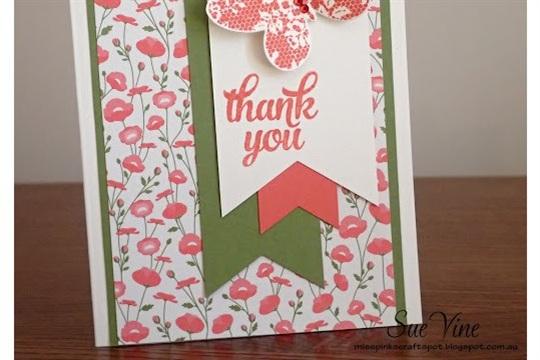 Pretty Petals Stamp Ink Paper Challenge #27