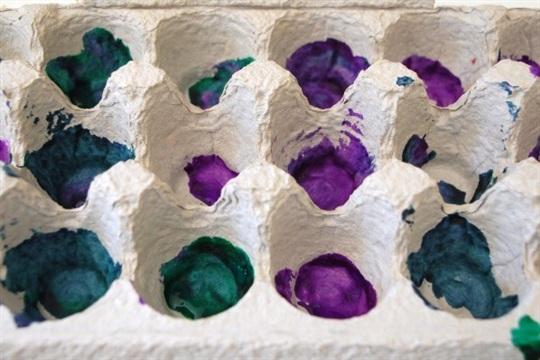 Egg Carton Painting