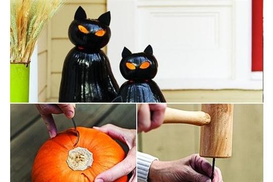 Cat O??Lanterns for Halloween in 6 Easy Steps