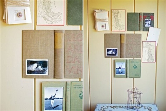 New DIY Craft Project How to Make a Book Picture Frame Paper and Stitch