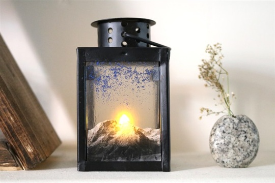 DIY Lantern with Mountain Sunrise Scene