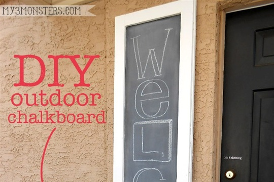 Giant DIY Outdoor Chalkboard