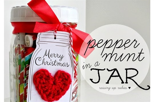 Peppermint in a jar ... a quick last minute gift