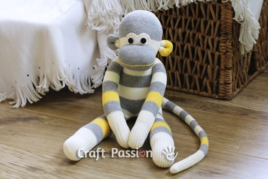 Sock Monkey -Free Sew Pattern
