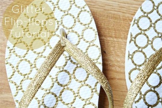 Make Glitter Flip Flops