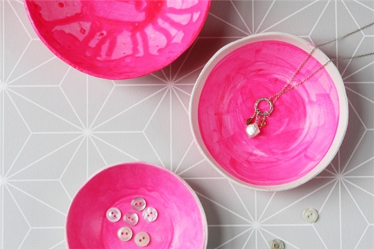 Diy Hand-Painted Glazed Clay Bowls