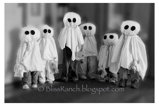 Bliss Ranch Ghosts Made With Old Kids Clothes