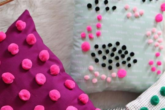 Mini Pom Pom Pillow DIY