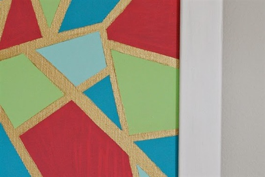 DIY Geometic Abstract Art