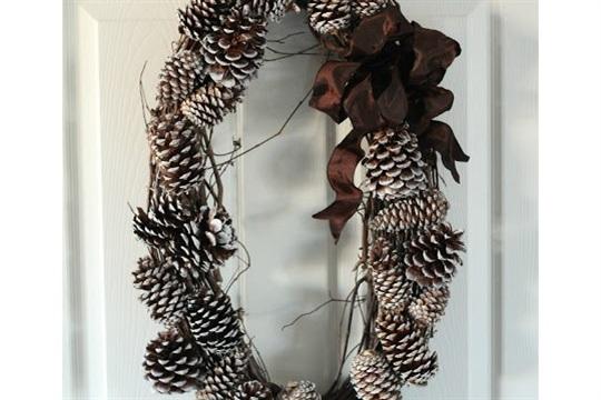 DIY Pinecone Wreath Tutorial Just Between Friends