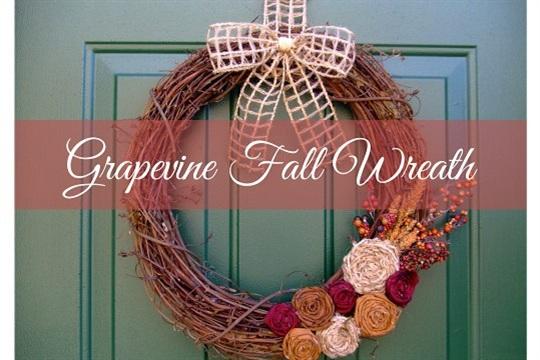Simply Dream & Create Grapevine Fall Wreath