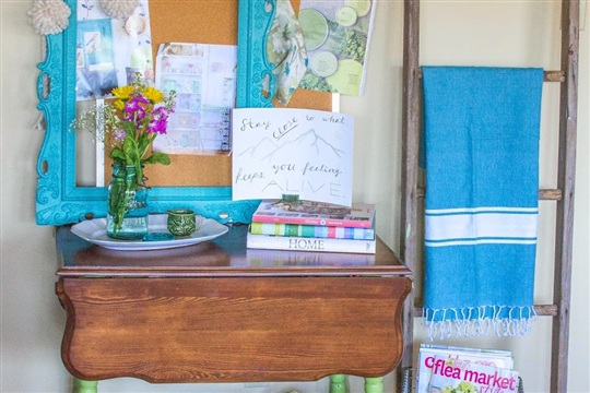 Postcards from the Ridge: Refinished and Refreshed Drop Leaf Table -