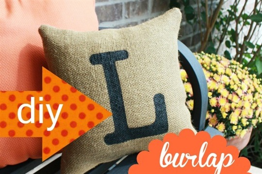 Burlap Pillow: How to Make a Burlap Pillow | DIY Home Decor