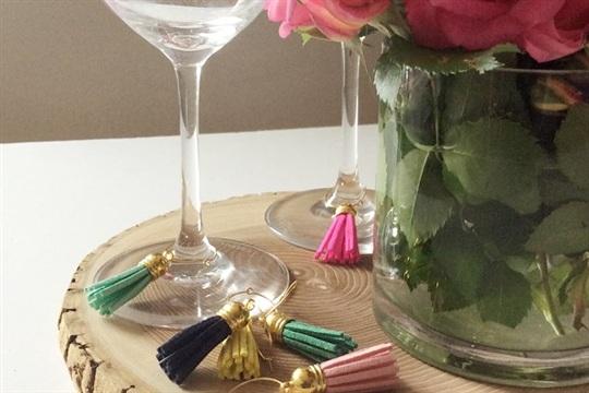 Design Fixation: Easy DIY Leather Tassel Wine Charms