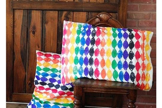Spring Stamped Pillows
