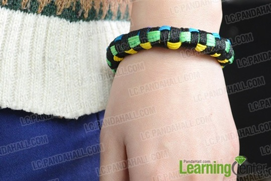Multi-Color Block Friendship Bangle Bracelet Design Instructions