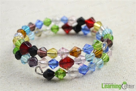 How to Make a Colorful Beaded Cuff Bracelet with Memory Wire