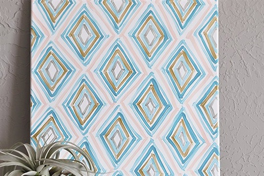 Easy Art in 1.2.3 Diamond Patterns