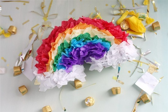 Gold at the End of the Mini Rainbow Pinatas