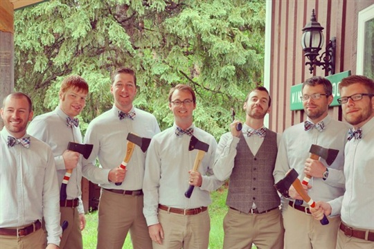 DIY Painted Hatchets for Groomsmen Gifts