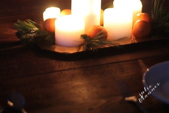 DIY Christmas Centerpiece Candlelight Christmas Dinner