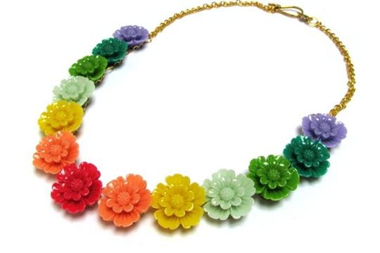 Spring garden necklace