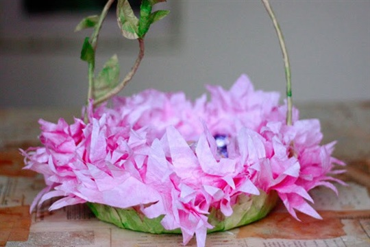 Friday Flowers Coffee Filter Easter Baskets in Bloom