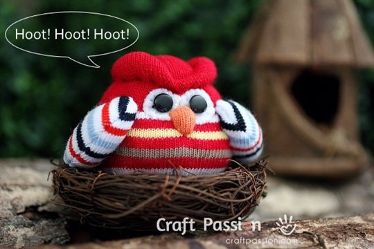 Sock Owl Free Sew Pattern