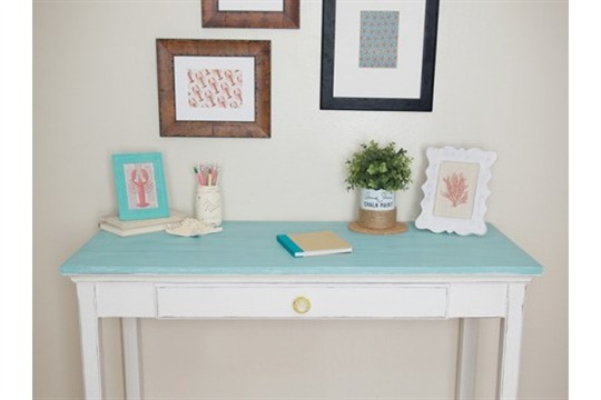 Chalk Paint by Annie Sloan Coastal Desk Makeover