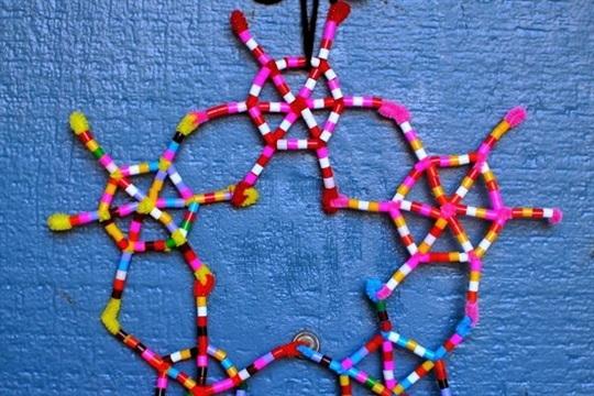 DIY Perler Bead Snowflake Ornaments