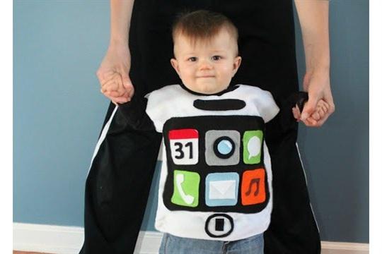 No Sew iPhone Costume
