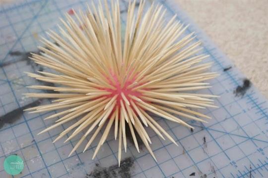DIY Spiked Porcupine Urchin Decor
