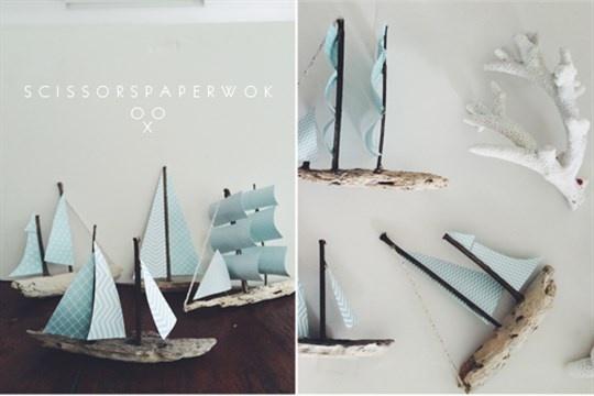 DIY - Driftwood Sailboat Mobile