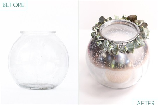 Ombre Mercury Glass Candle Holder