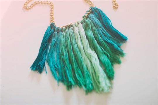D.i.y. tassel necklace.