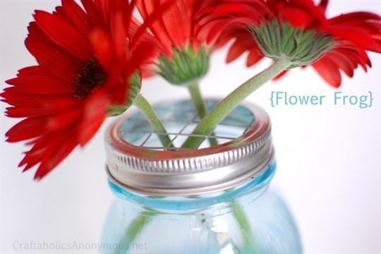 DIY Mason Jar Flower Lids