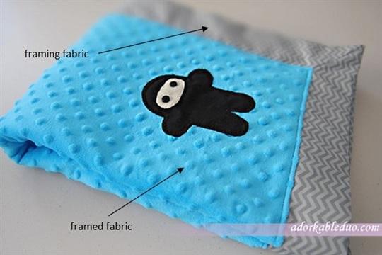 {DIY} Ninja Baby Blanket with Mitered Corner