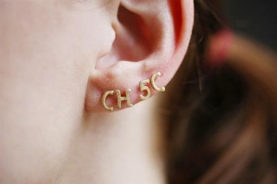 DIY Jewelry Alphabet Pasta Stud Earrings