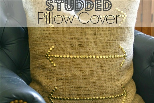 Cheap & Easy Studded Pillow Cover