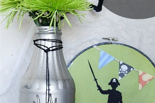 Upcycled Glass Bottle for Halloween
