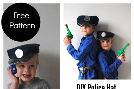 image relating to Printable Police Hat named Printable Law enforcement Hat Sewing Practice - CraftSmile