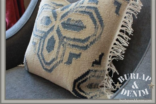 Pottery Barn Rug Swatch Dhurrie Pillows